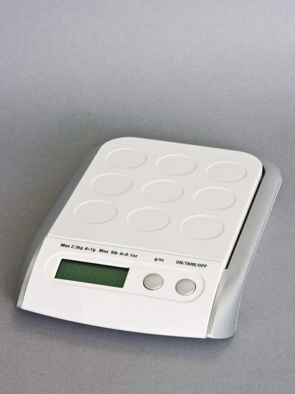 Upright Digital Postal Scale - White
