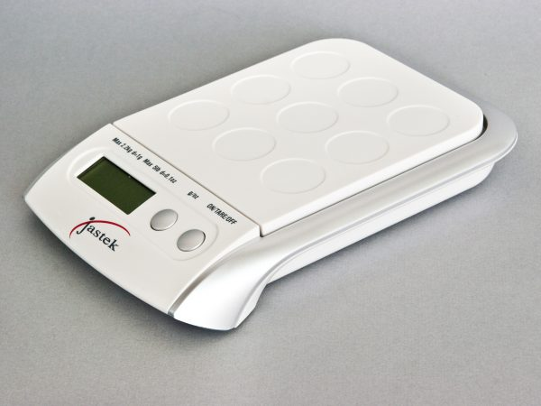 Upright Digital Postal Scale - White Side View